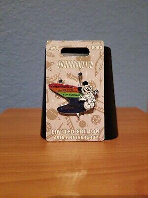 DISNEY magic kingdom TOMORROWLAND SPACE MOUNTAIN 45TH anniv Mickey Mouse LE PIN