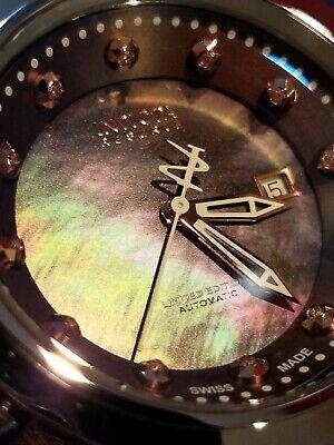 Invicta Eyal Lalo Bolt Zeus Heritage Ltd Ed Swiss Made Auto Diamond Watch Rose