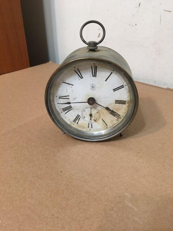 Rare Antique Phelps & Bartholomew Peg Leg Desk Clock No Alarm Ansonia CT