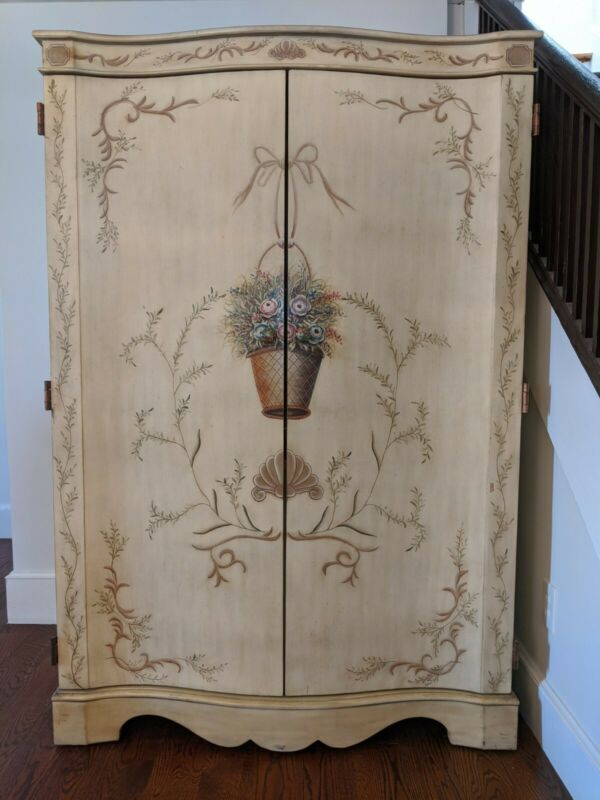 Shabby Chic Amoire Wardrobe, Hand Painted, Excellent Condition!