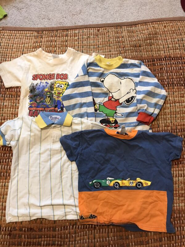 HUGE VINTAGE 90s CHILDREN MIXED CLOTHES LOT Lacoste Snoopy VTG
