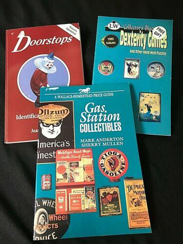 DEXTERITY GAMES *  DOORSTOPS * GAS STATION * PB Collectors / Price Guide *3*