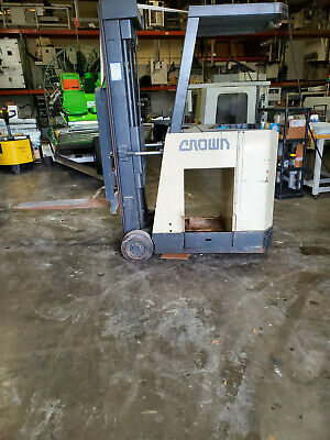 Crown 36v Electric Cushion Tire Forklift Mdl 30rctt 3000lb Capacity