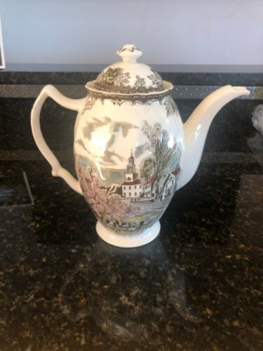 Johnson Brothers Friendly Village Coffee Pot, perfect condition, no flaws