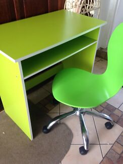 Fluor green desk and chair Palm Beach Gold Coast South Preview