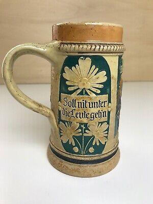 Vintage Ceramic German Beer Stein Mug Made in Germany