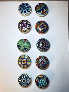10 Portugal / Mexican colourful style cabinet or door knobs