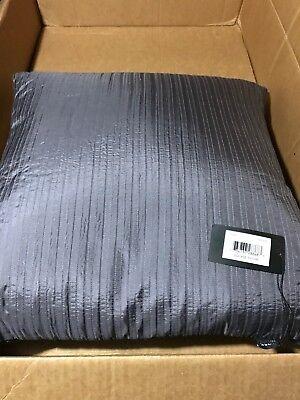 $188! NWT Hugo Boss Plum Purple Square 100% Silk Down Decorative Pillow!