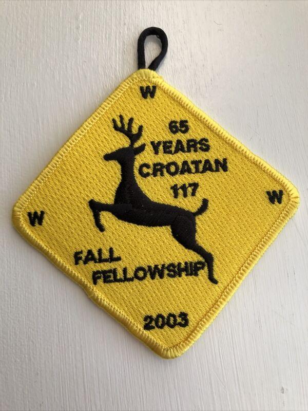 OA (BSA) Croatan Lodge #117 - 2003 Fall Fellowship Patch