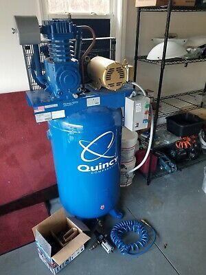 Quincy Qt-5 5-hp 3-ph 80-gal Air Compressor