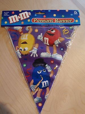 M&M  M&M'S PENNANT BANNER PARTY NEW 12 FOOT LONG BIRTH DAY FLAG STRING