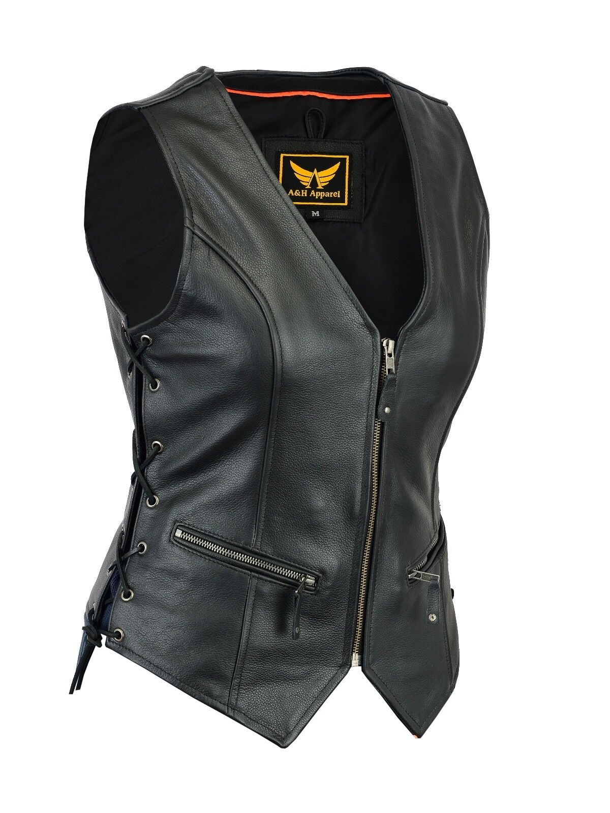 womens motorcycle leather vest genuine cowhide leather
