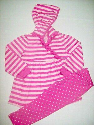 Organic Cotton Baby Girls Tunic Hoodie & Polka-Dot Leggings 2-Piece Set 18 -