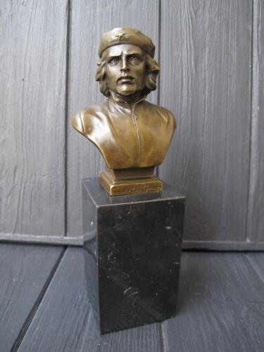 CHE GUEVARA CUBA REVOLUTION  BRONZE STATUE BUST bronze