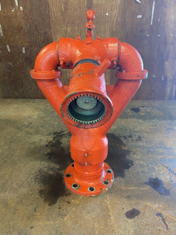 "Elkhart Brass 292-6 Fire Monitor, 4"" I.D., 8 Bolt Flange, Manual Adjust. Nozzle"