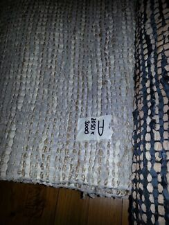 Hand loomed leather and rope rug Lansvale Liverpool Area Preview