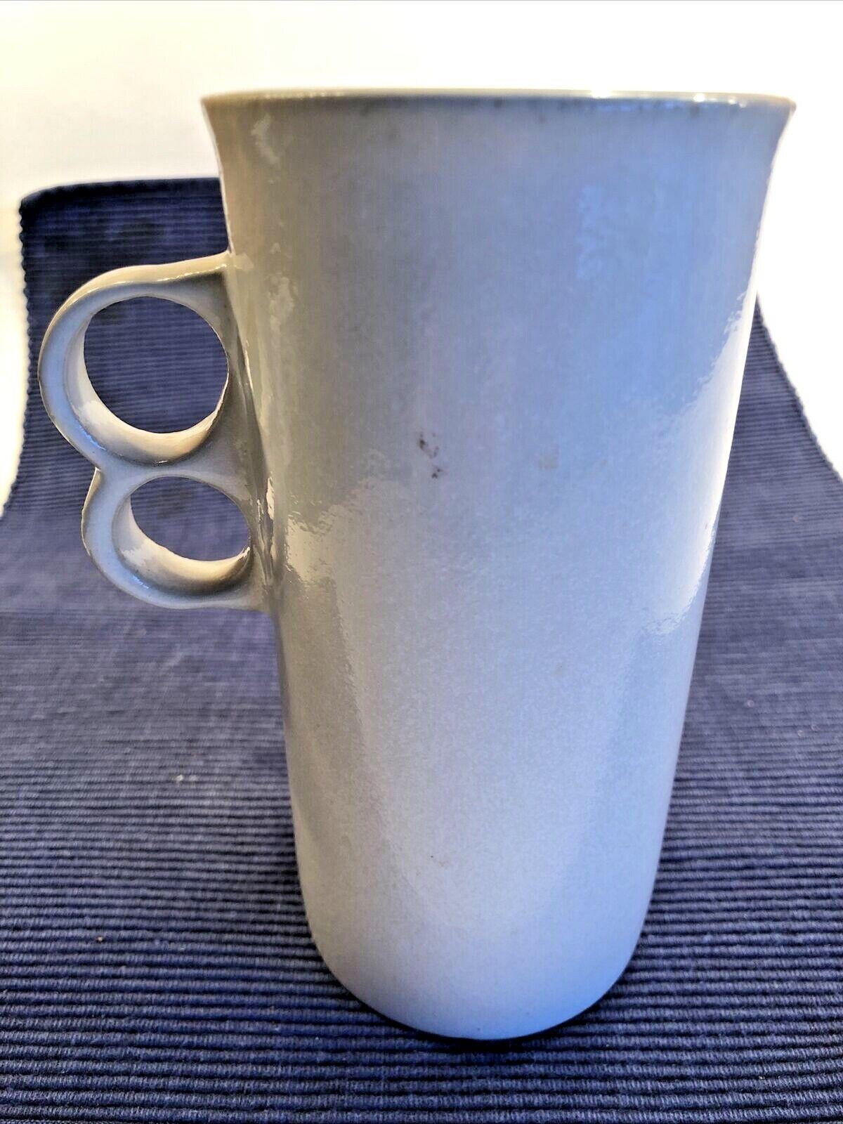 Vintage Bennington Potters White Matte Cappuccino Coffee Mug Trigger 1371 MCM - $18.00