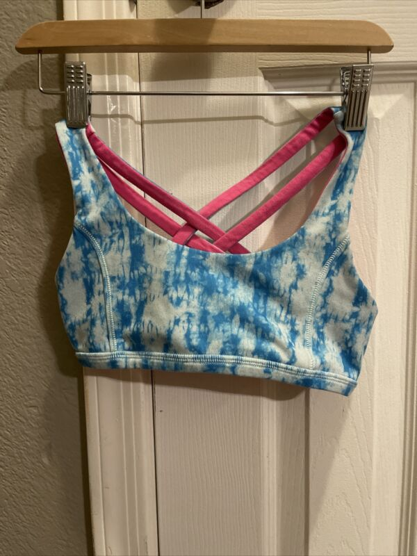 Ivivva Sports Bra size 8 blue  girls