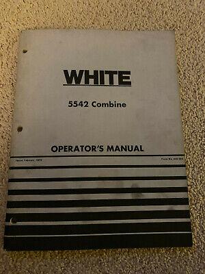 White Oliver 5542 Combine Operators Manual 1975 Farm Equipment