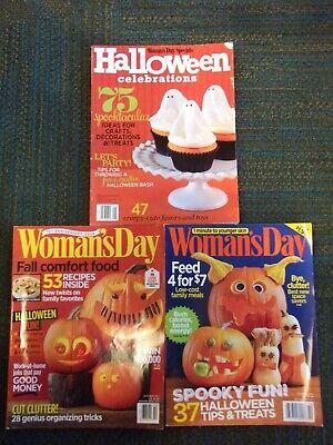 Halloween Day Celebration (Lot of 3-WOMAN'S DAY Magazine (Oct 2012/2015) &