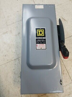 Square D Hu363 Safety Switch 600v Ac Clean