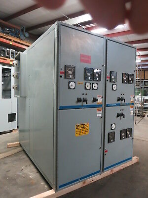 GE PowerVac 2400V 1200-2000 Amp 3PH 3W Switchgear Breaker Cabinet Power/Vac 2300