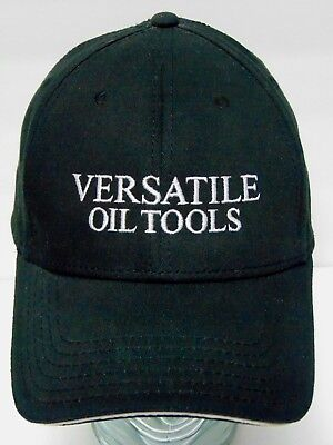 Versatile Oil Tools Natural Gas Petroleum Advertising Black Hat Cap L Xl