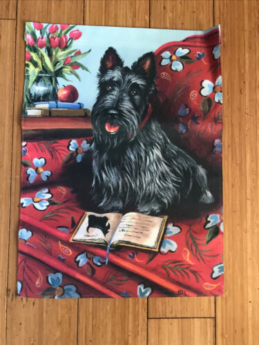 Garden Flag - Scottish Terrier- Reading Up On His Breed. 10.5 X 14.5 Inches. - $15.00