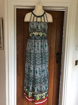 Jaune Rouge Summer Dress With Cleopatra Type Neckline Size S (8)