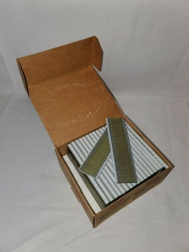 "3/16"" Crown 1"" Leg 19 Ga Galvanized Sencote Staples R13BAB / L13BRBN 9200ct Box"