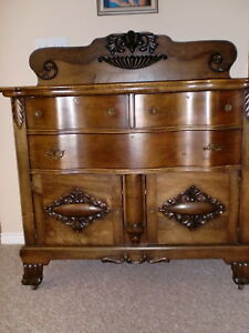 Antique  TIGER  Oak  Krug Buffet