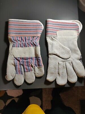 12 Pairs Z Working Gloves Split Leather Large