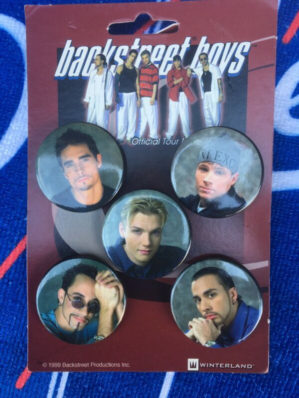 VINTAGE BACKSTREET BOYS WINTERLAND PIN BUTTON LOT 1999 OFFICIAL TOUR MERCHANDISE