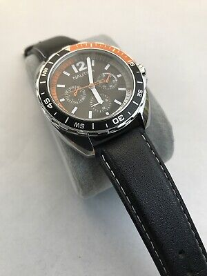 NAUTICA Mans Watch ( 80660N) 38mm/50M/Leather/ EXCELLENT & GUARANTEED!