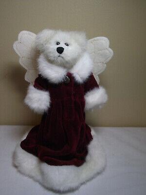 BOYDS BEARS CHRISTMAS TREE TOPPER ARIELLA ANGELFROST PLUSH ANGEL BEAR