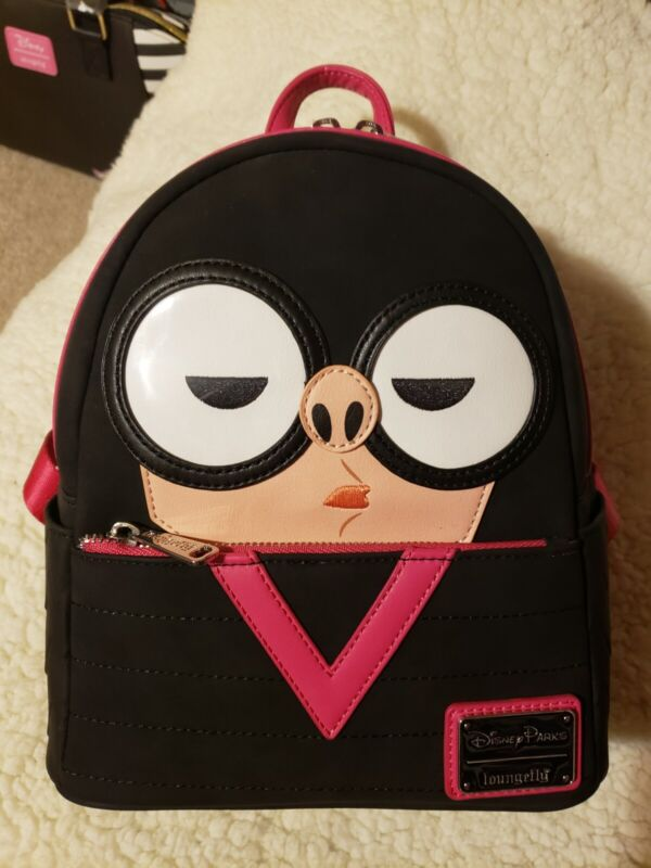 New Disney Parks Loungefly Edna Mode Incredibles Mini Backpack Bag NWT