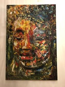 Large painting on canvas 79x119 cm