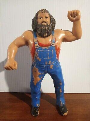 WWF LJN Hillbilly Jim Rubber Wrestling Action Figure 8in WWE Titan Sports VTG