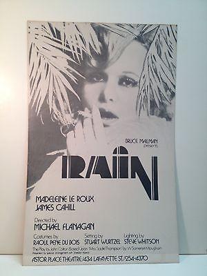 Rain Musical Theatre Broadway Play Poster Original