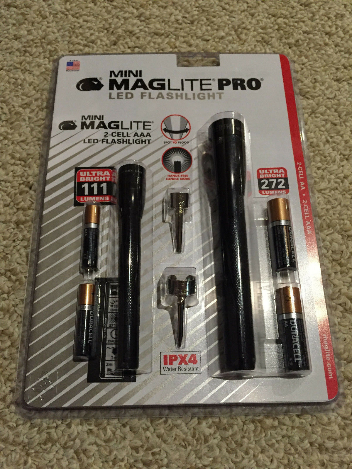 New Mini Maglite Pro Led Combo Two Pack 2 Cell Aa Amp Aaa