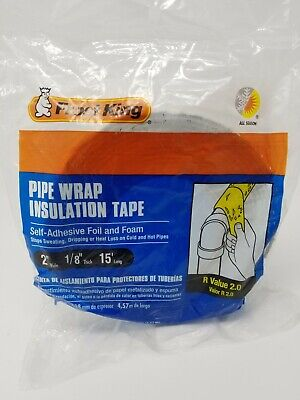 Frost King 18 X 2 X 15 Ft. Foam And Foil Pipe Insulation Wrap Foam And Foil