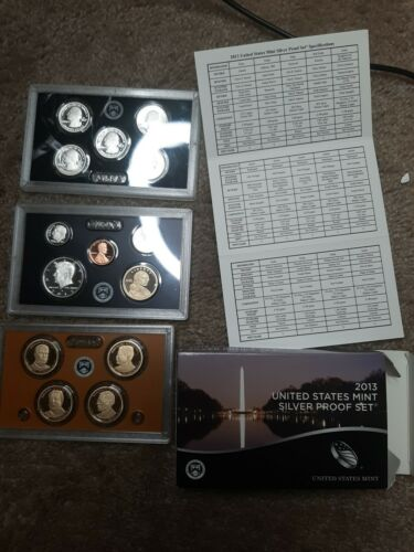 2013 S United States Mint Silver Proof Set In Box With COA This Is The 14 Piece - $50.25
