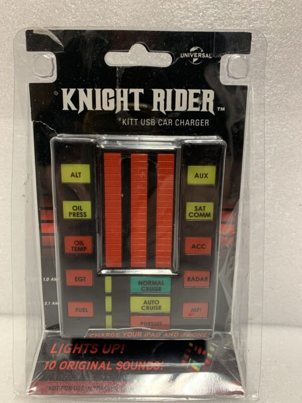 RARE Think Geek Knight Rider KITT USB Talking Car Charger Universal