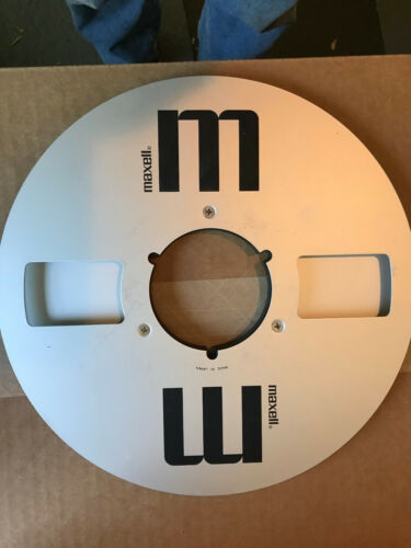 """Maxell MR-10 EMPTY 10.5 Inch Metal Take Up Reel For 1/4"""" Audio Reel to Reel Tape"""
