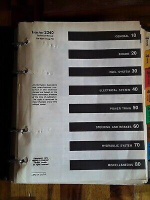 1975 John Deere 2240 Tractor Technical Manual Tm4301