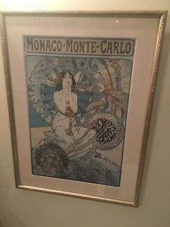 Mucha print mounted and framed