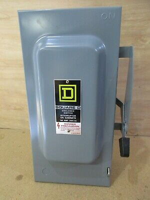 Square D Du323 Safety Switch Disconnect 100 Amps 3p 240v V502