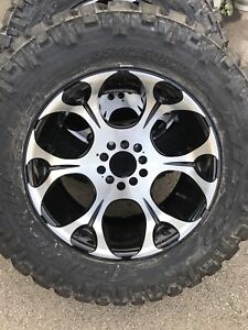 Nitto terra grappler Rubber and Fuel Dune Rims