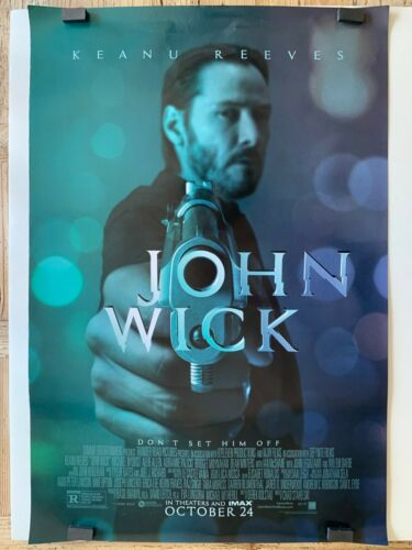 JOHN WICK orig DS movie poster AUTHENTIC one sheet 27x40