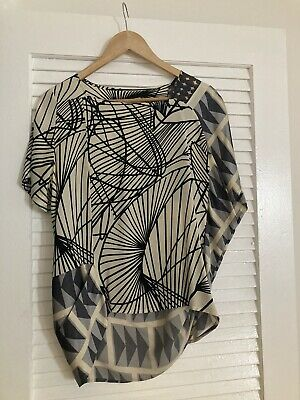 Dries Van Noten Abstract Silk Blouse Size 40